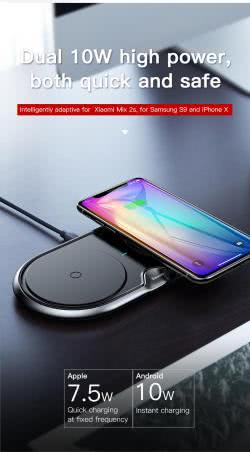 Беспроводное З/У Baseus Dual Wireless Charger BSWC-P12 (WXSJK)